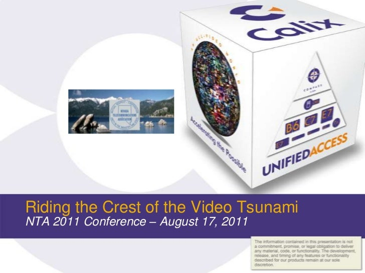 Riding the Crest of the Video TsunamiNTA 2011 Conference – August 17, 2011 <br />