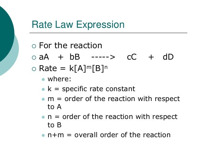 determination of reaction order with respect