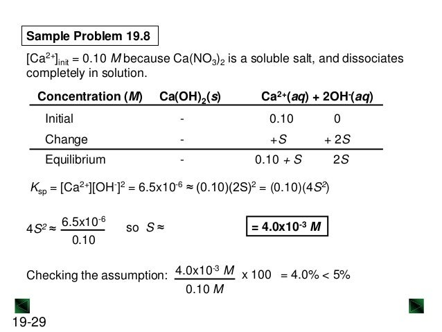 ksp of ca oh 2 To find the solubility of ca(oh)2, i multiplied the molarity of hcl times the volume of hcl delivered: 004743 mol / l x 00085 l = 403 x 10 ^-4.