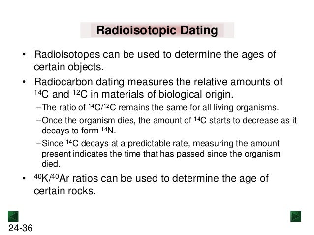 uses of radioisotopes in radiocarbon dating
