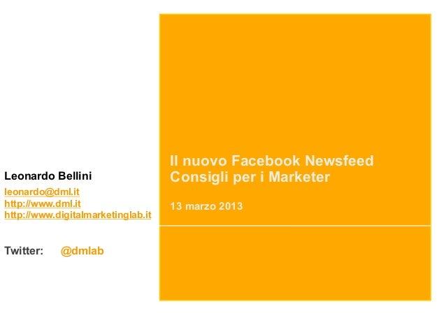 Il nuovo Facebook Newsfeed