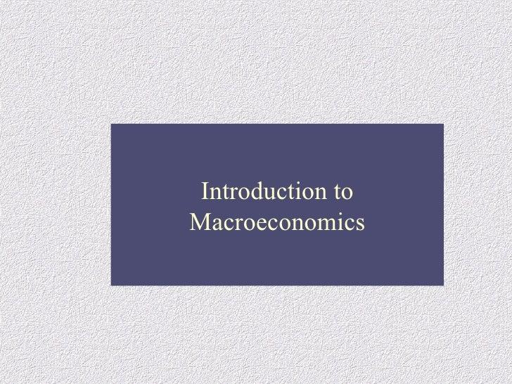 Macro  Economics Chap1