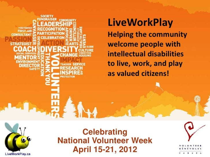 LiveWorkPlay            Helping the community            welcome people with            intellectual disabilities         ...