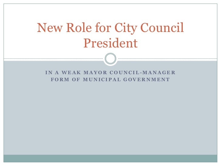 New Role for City Council President