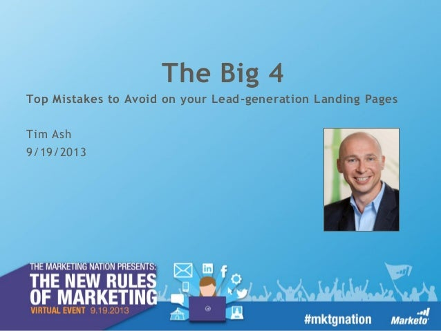 The Big 4: Mistakes to Avoid on Your Landing Pages