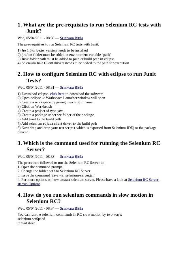 New selenium rc