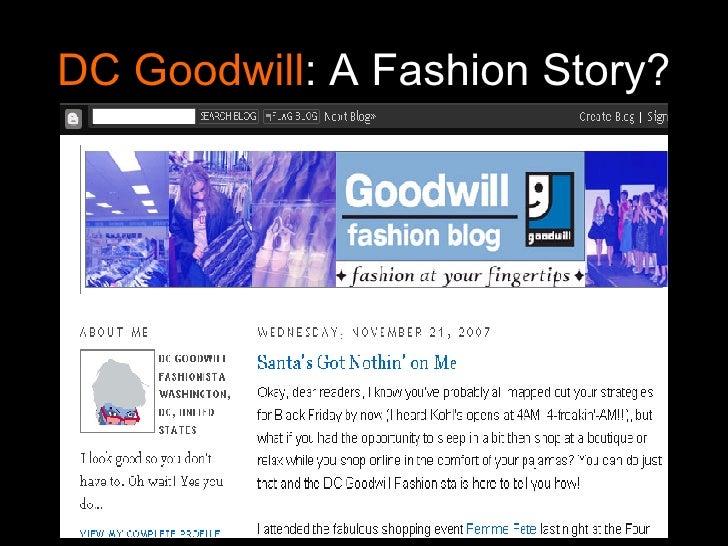 DC Goodwill : A Fashion Story?
