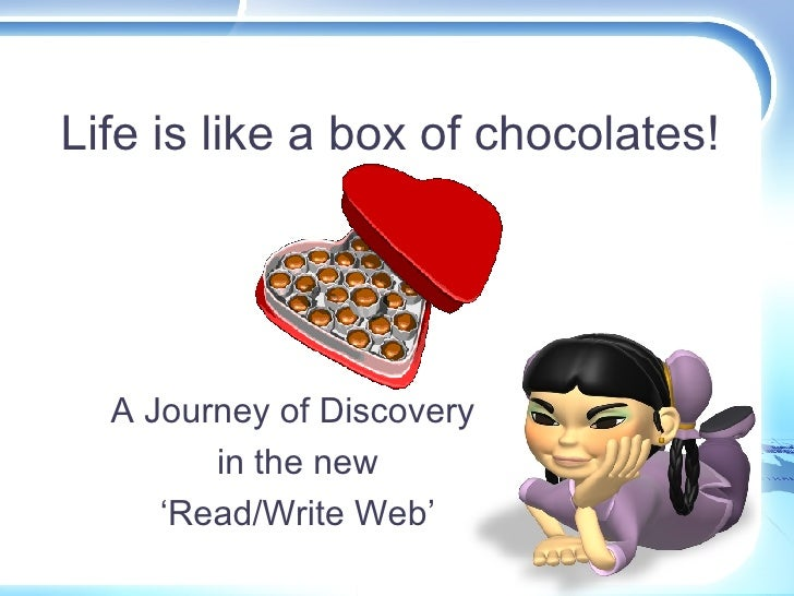 Life is like a box of chocolates! A Journey of Discovery  in the new 'Read/Write Web'