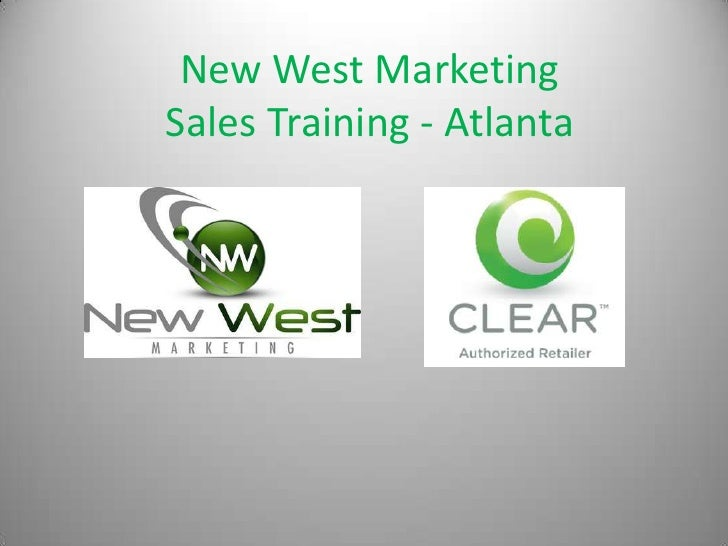 New West MarketingSales Training - Atlanta<br />