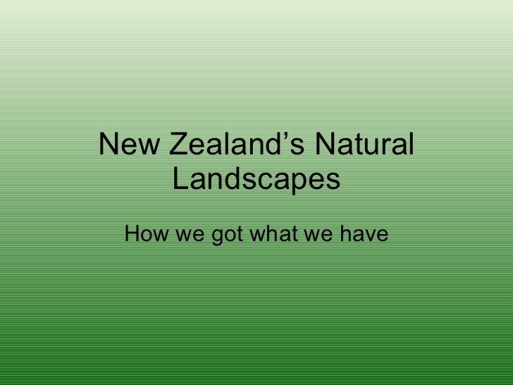 New Zealand'S Natural Landscapes