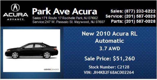 Ac@nA Park Ave Acura sales:  (877) 233-6222  saIes. ~I71 Route 17 Rochelle Park,  NJ 07552 service:  (201) 5870029 ServIce...