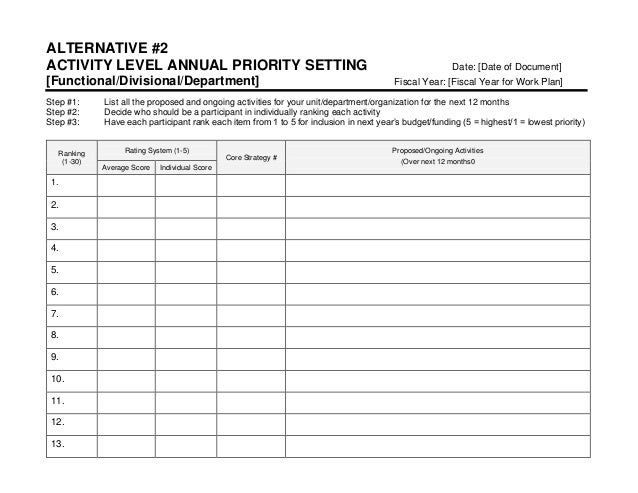 activity programme template - strategic marketing sales plan template