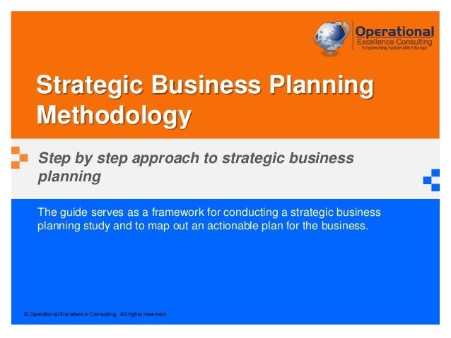 Strategic Business Planning Methodology