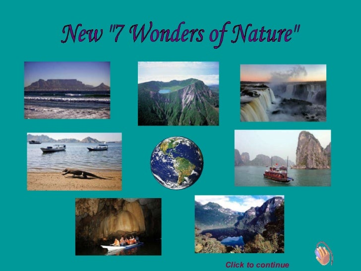 "New ""7 Wonders of Nature"" Click to continue"