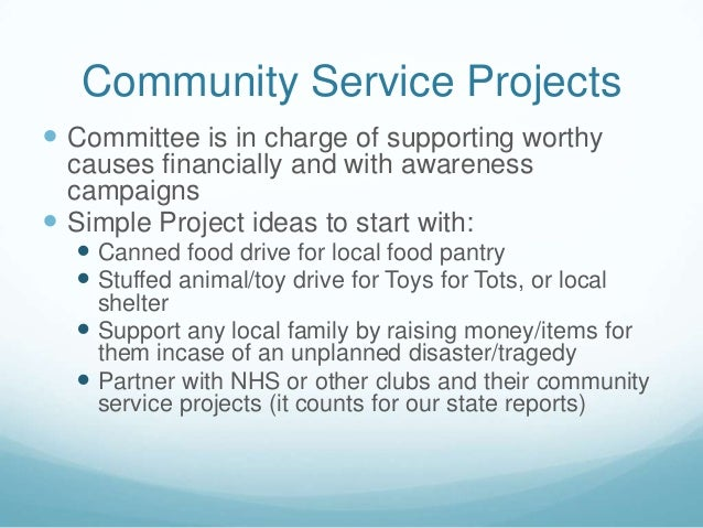 nhs community service ideas