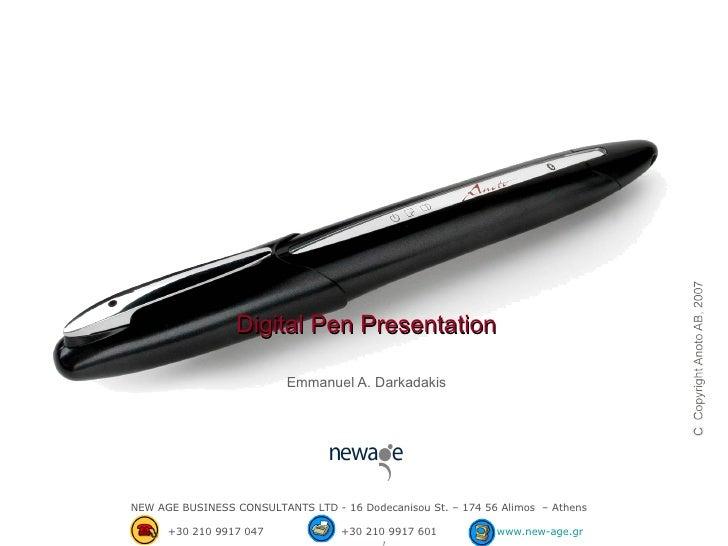 Digital Pen Presentation Ε mmanuel A. Darkadakis