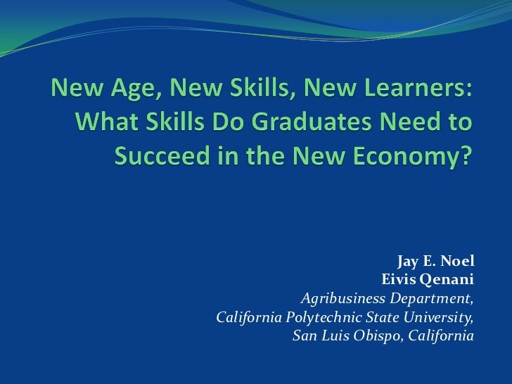 New Age, New Learners, New Skills