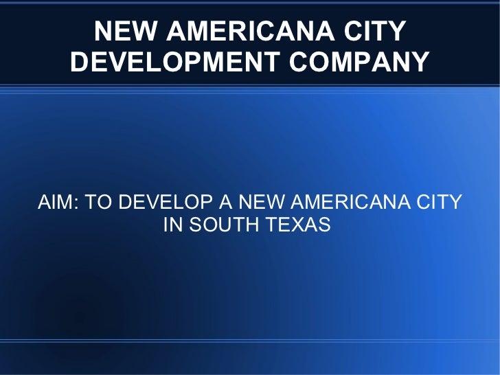 New American City Presentation1
