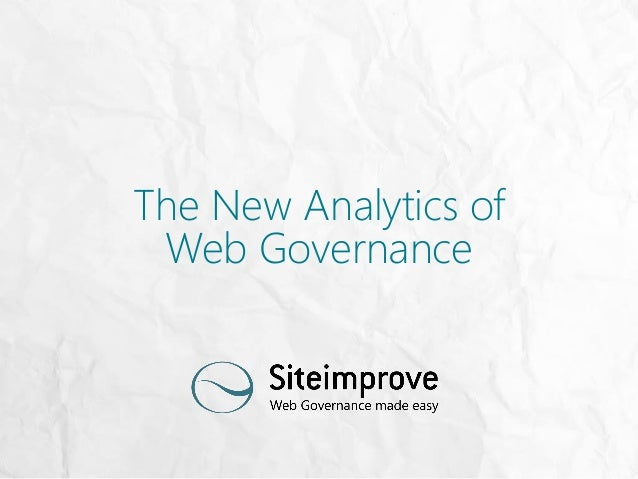 The New Analytics of Web Governance