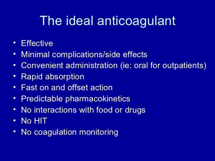 New anticoagulants