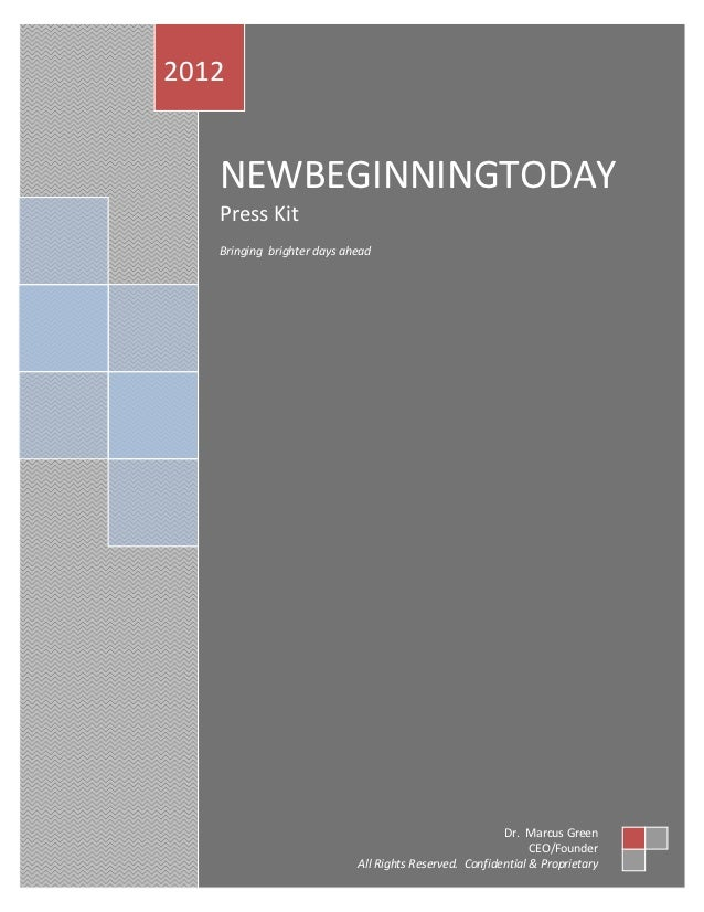 New Beginning Today Press Kit