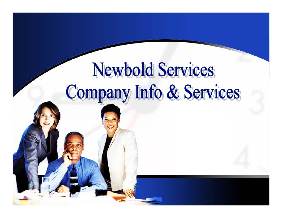 Newbold Services is a new company created between Newbold Corporation and IH Services, Inc. formed to  provide good, consi...