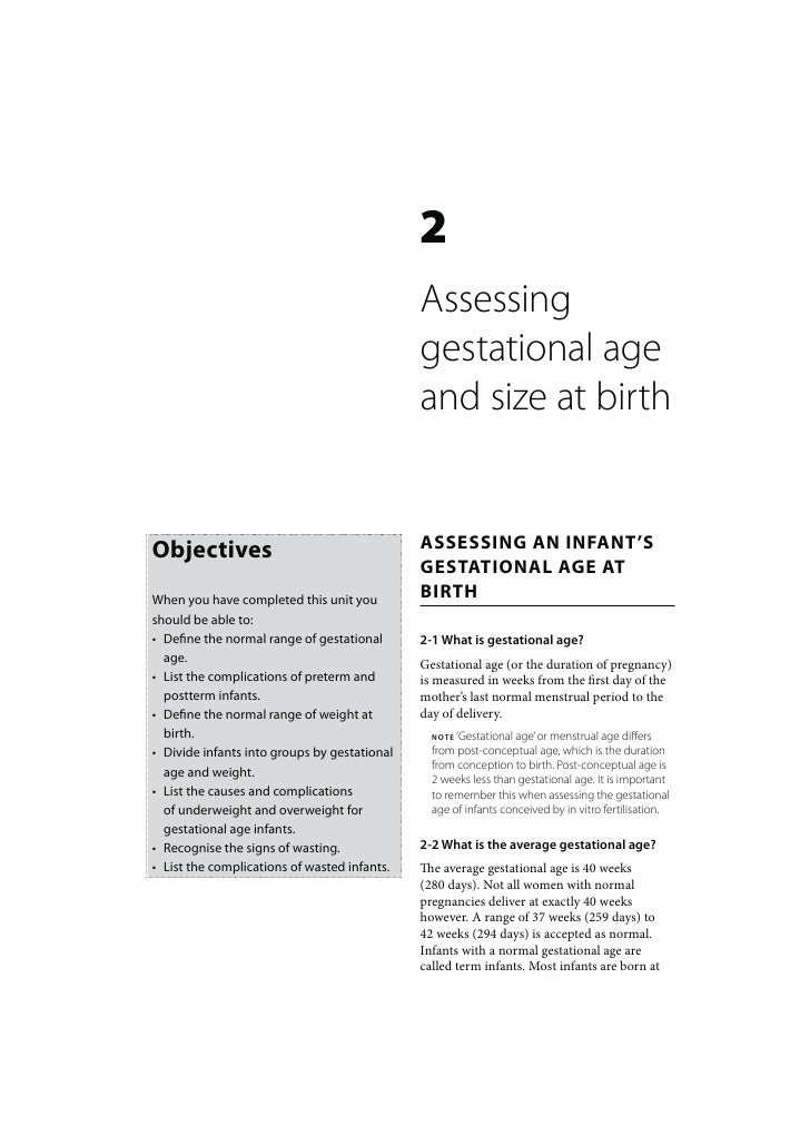 2                                              Assessing                                              gestational age     ...