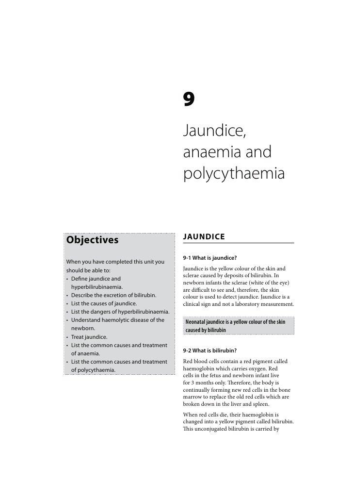9                                             Jaundice,                                             anaemia and           ...
