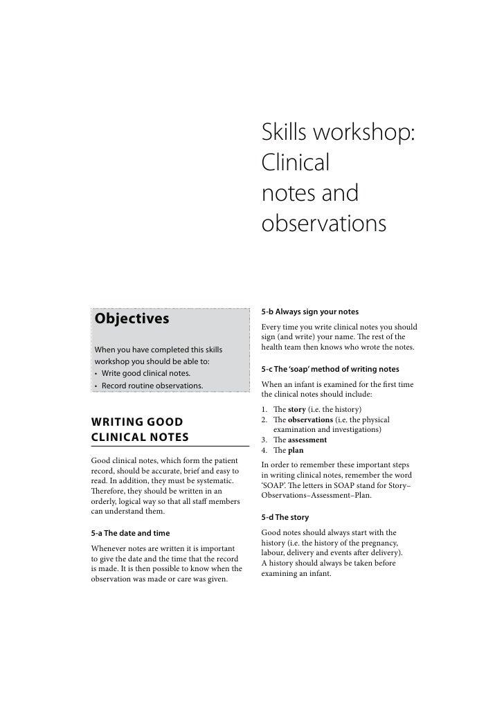 Skills workshop:                                                 Clinical                                                 ...