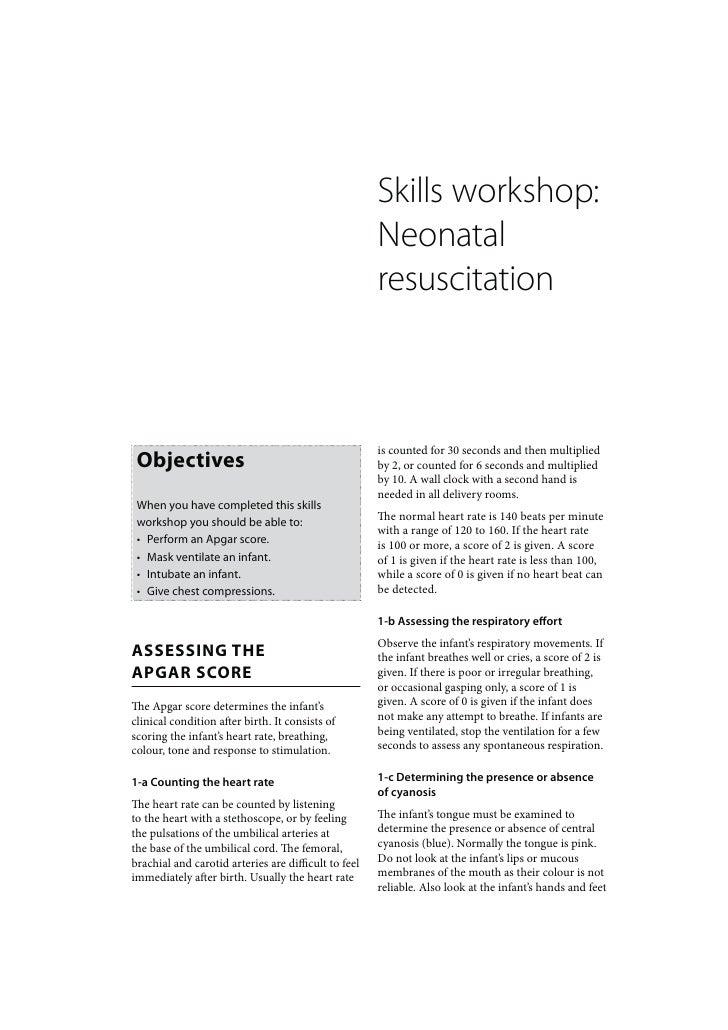 Skills workshop:                                                      Neonatal                                            ...