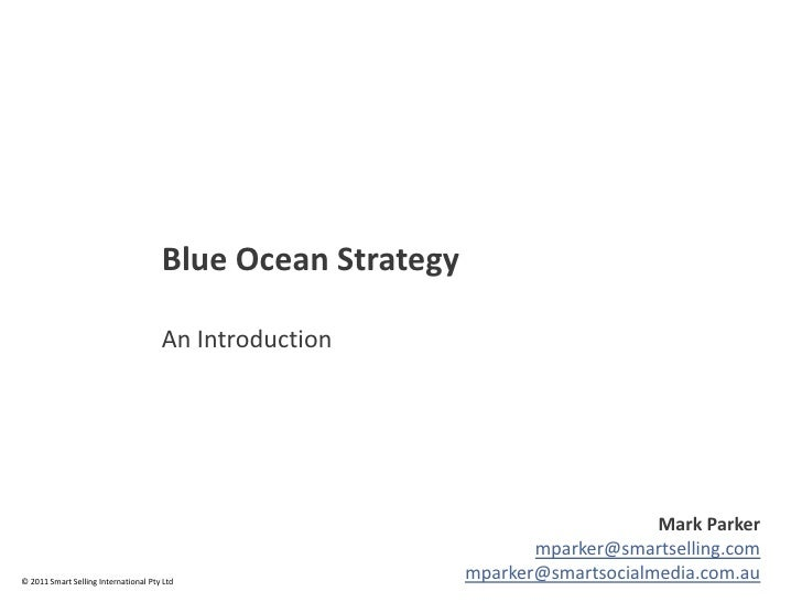 Blue Ocean Strategy                                      An Introduction                                                  ...
