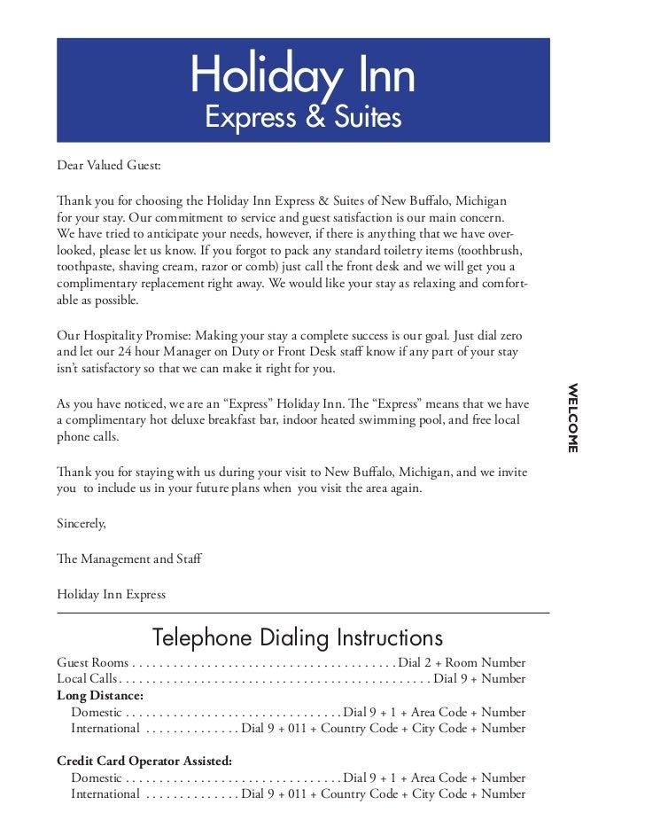Holiday Inn Resume Sample