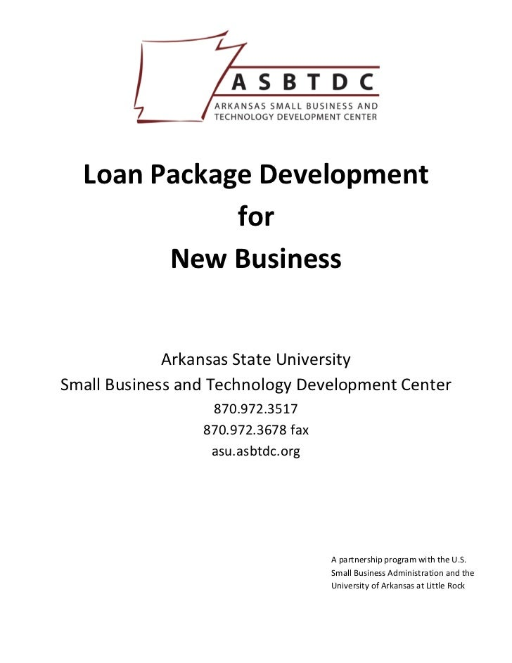 Loan Package Development               for          New Business                             ...