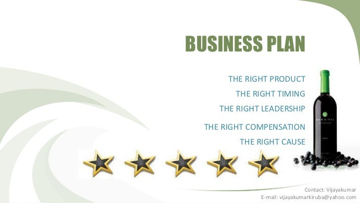BUSINESS PLAN       THE RIGHT PRODUCT        THE RIGHT TIMING     THE RIGHT LEADERSHIP  THE RIGHT COMPENSATION         THE...
