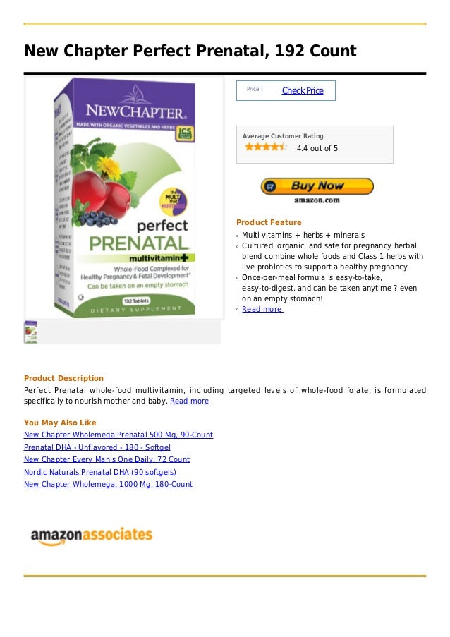 New chapter perfect prenatal, 192 count