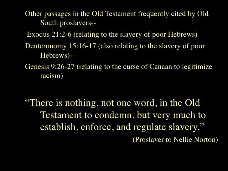 Slavery and the bible essay