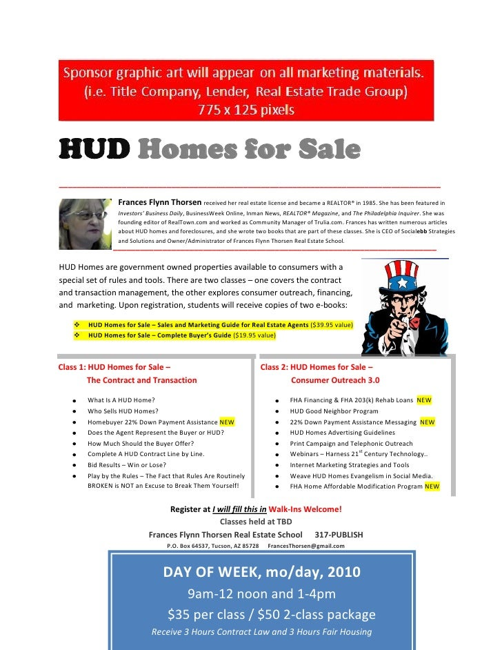 HUD Homes for Sale _____________________________________________________________________________________                  ...