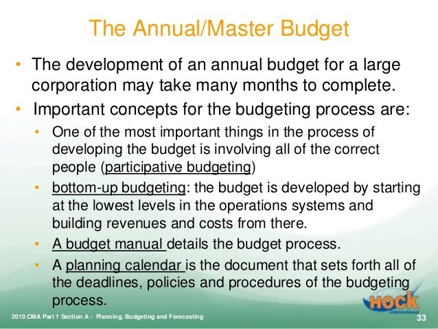 a budget and the budgeting process essay Processes are numerous and include the facilitation of better service provision,   budgets reflect those policies and that spending is in line with.