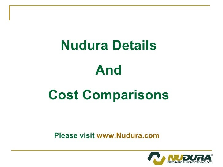 New commercial presentation 2009 for Nudura icf cost