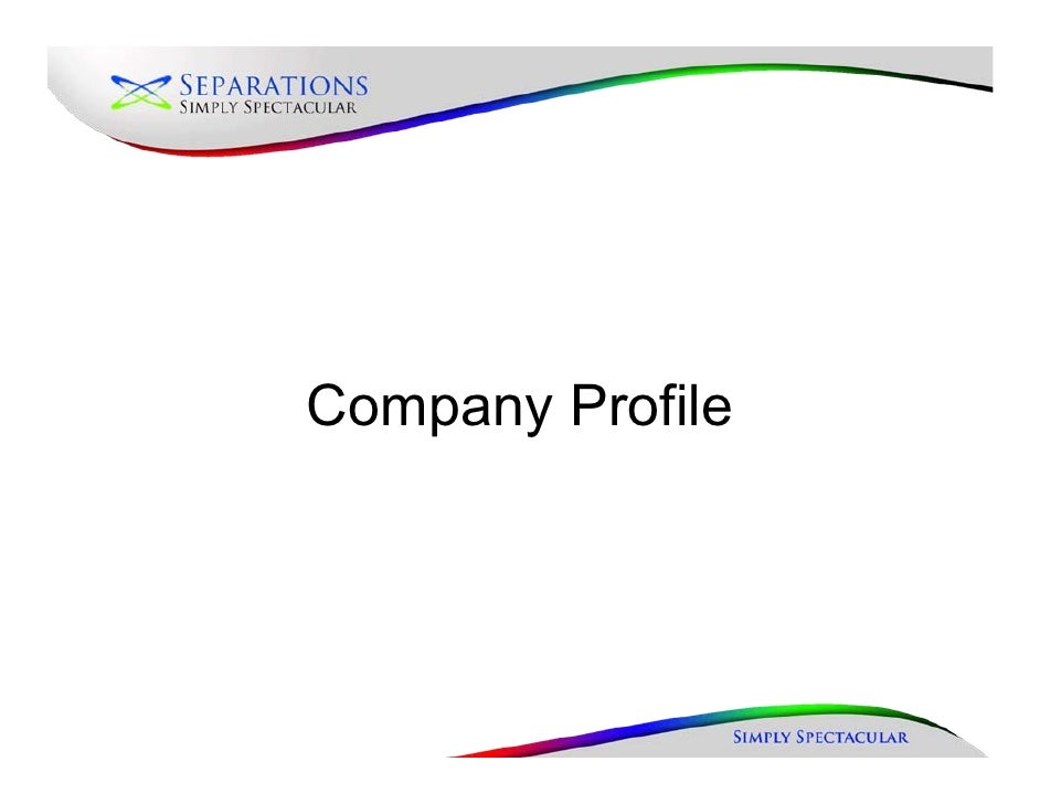New company profile(august 2010)