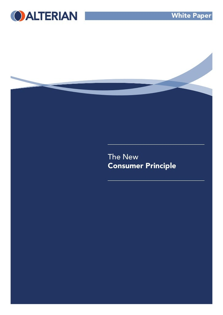 White PaperThe NewConsumer Principle