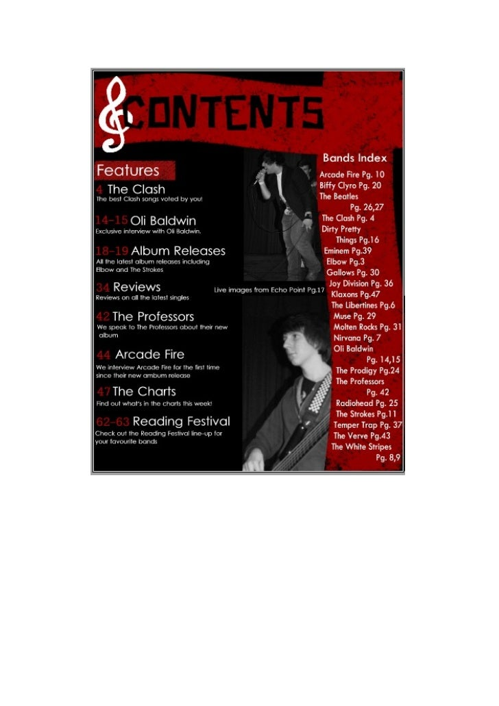 New contents page
