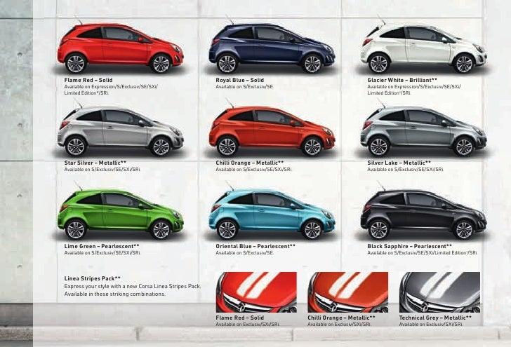 Car Paint Samples >> New corsa 2012 models Edition 1