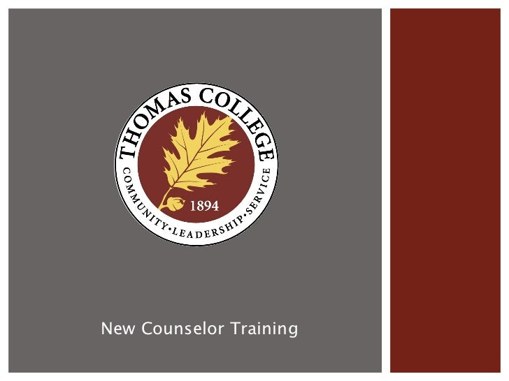 New Counselor Training