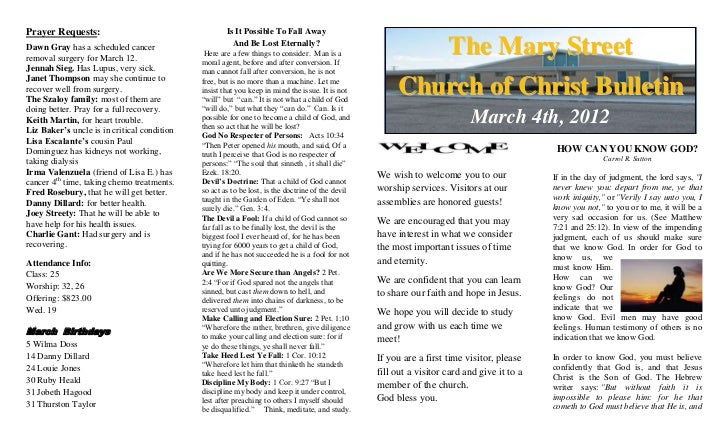 New crane church bulletin 3412