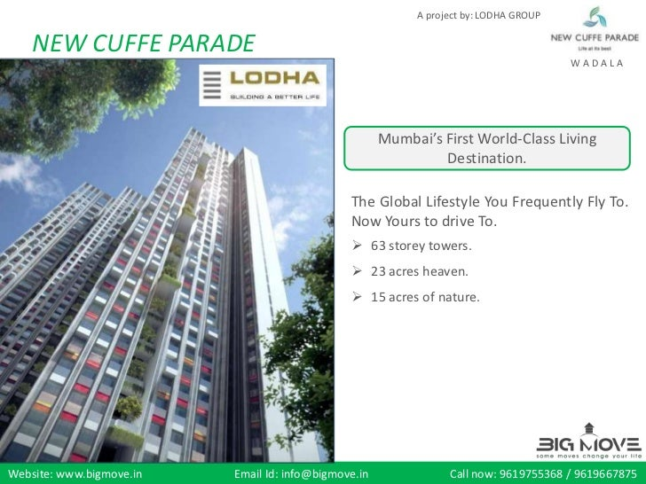 A project by: LODHA GROUP    NEW CUFFE PARADE                                                                             ...
