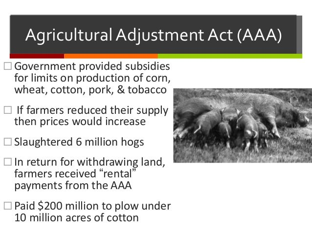 Agricultural Adjustment Act Agricultural Adjustment Act Posters
