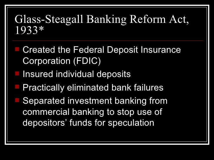Glass And Steagall