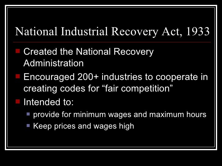 administration essay national recovery The national recovery administration too slowly to have much immediate effect on national recovery social welfare history project web site also.