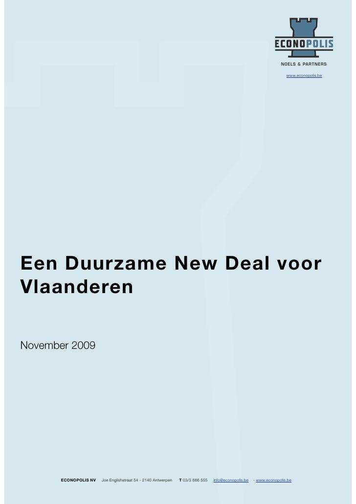 Sustainable New Deal Voor Vlaanderen   December 2009